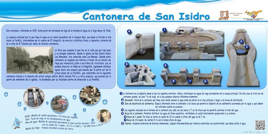 Panel de la cantonera de San Isidro